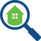 Magnifying Glass Over House Icon