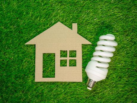 house and led lightbulb