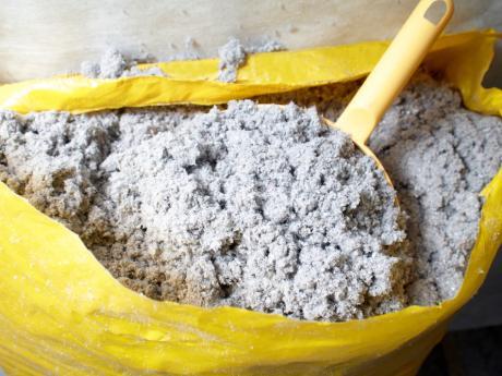 bag of cellulose insulation