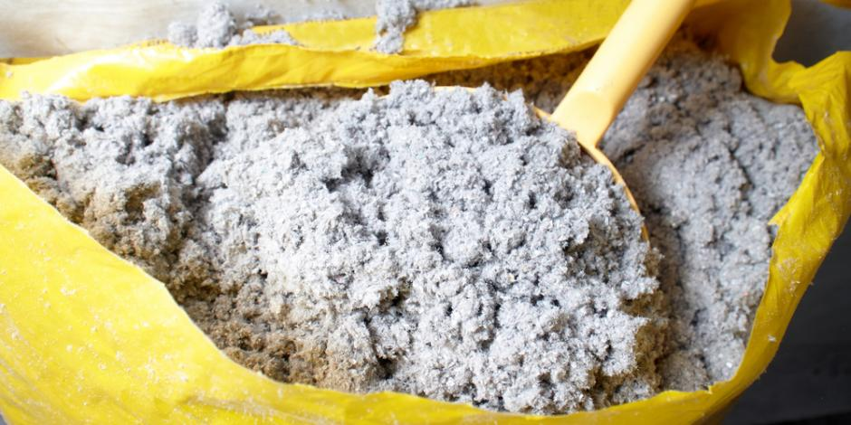 bag of cellulose insulation